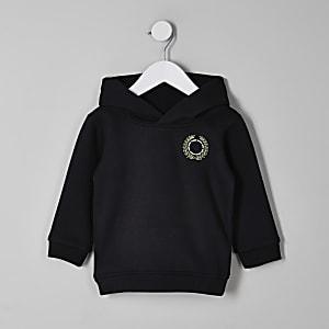 Mini - Zwarte geborduurde hoodie voor jongens
