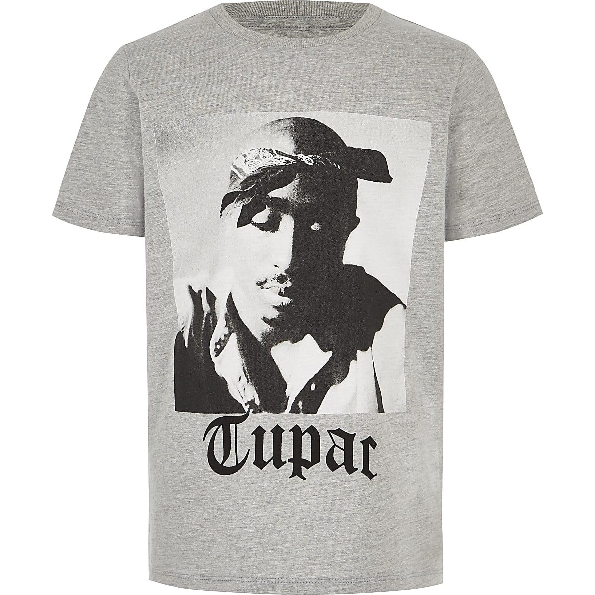 Boys grey Tupac T-shirt