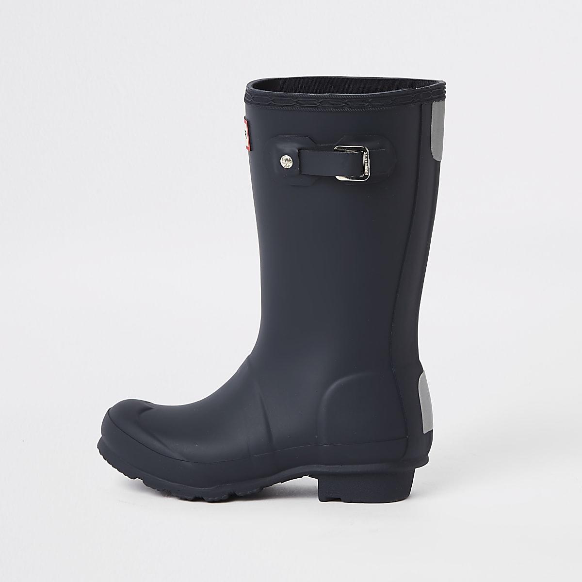 Kids Hunter Original navy rubber boots