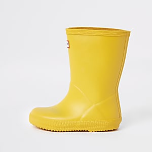 Mini kids Hunter Original yellow wellies