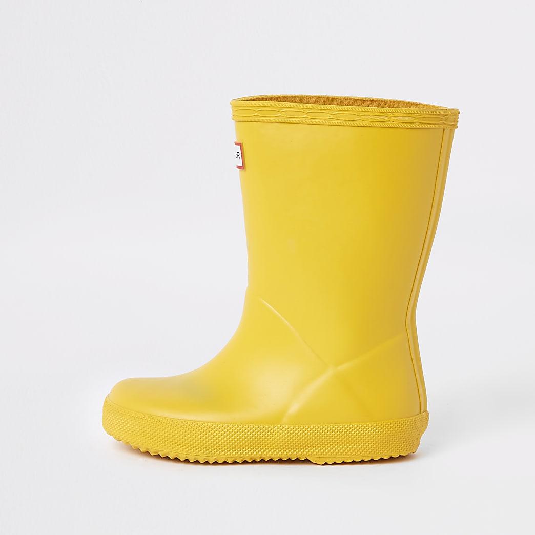 Mini - Hunter Original - Gele regenlaarzen voor kinderen