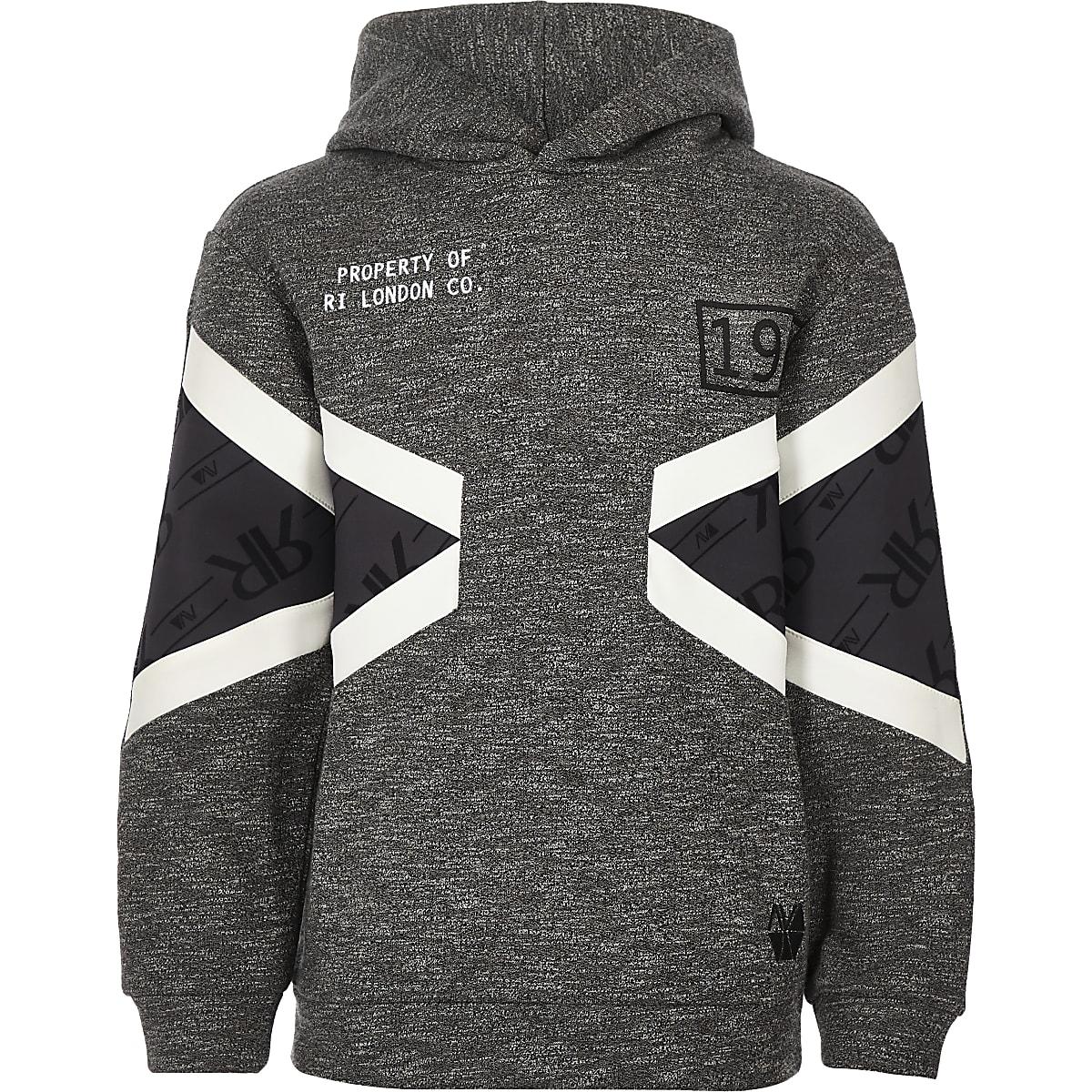RI Active - Grijze hoodie met kleurvlakken
