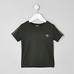 Mini boys khaki wasp embroidered T-shirt