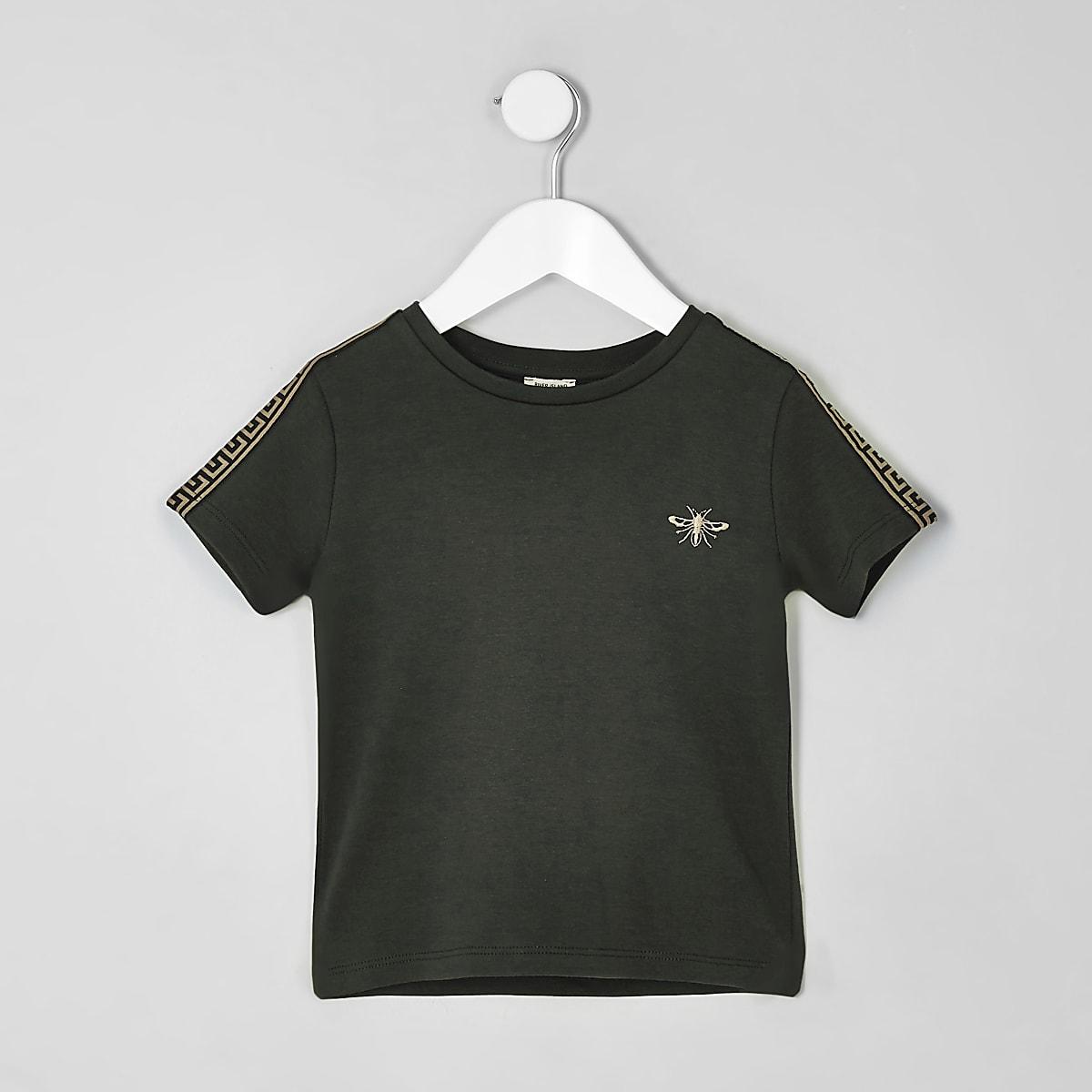 Mini boys khaki wasp embroidered T-shirt