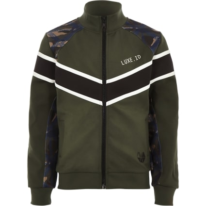 Boys RI Active khaki block windbreaker