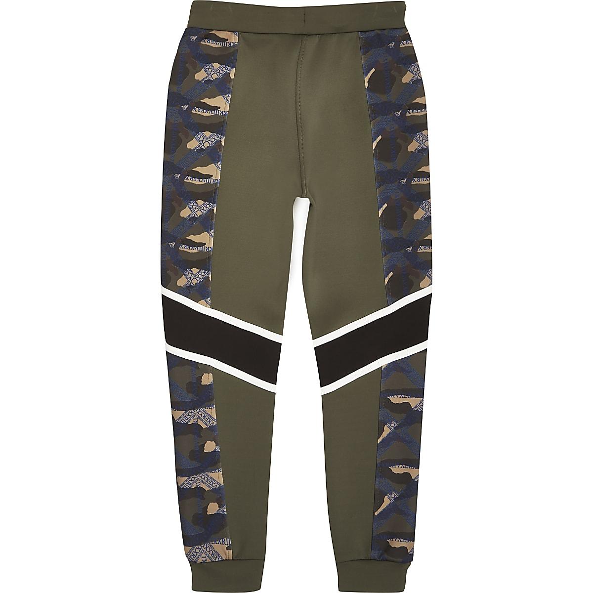 Joggingbroek Jongens.Ri Active Kaki Joggingbroek Met Camouflageprint Voor Jongens