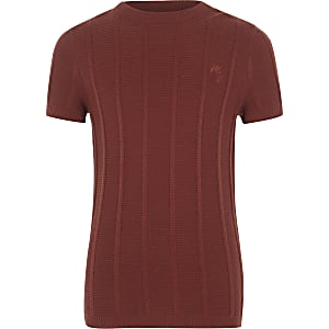 Boys rust knitted T-shirt