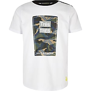 "RI Active – Weißes Camouflage-T-Shirt ""Tres"""