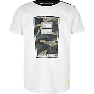 RI Active – T-shirt à imprimé « Très » camouflage blanc pour garçon
