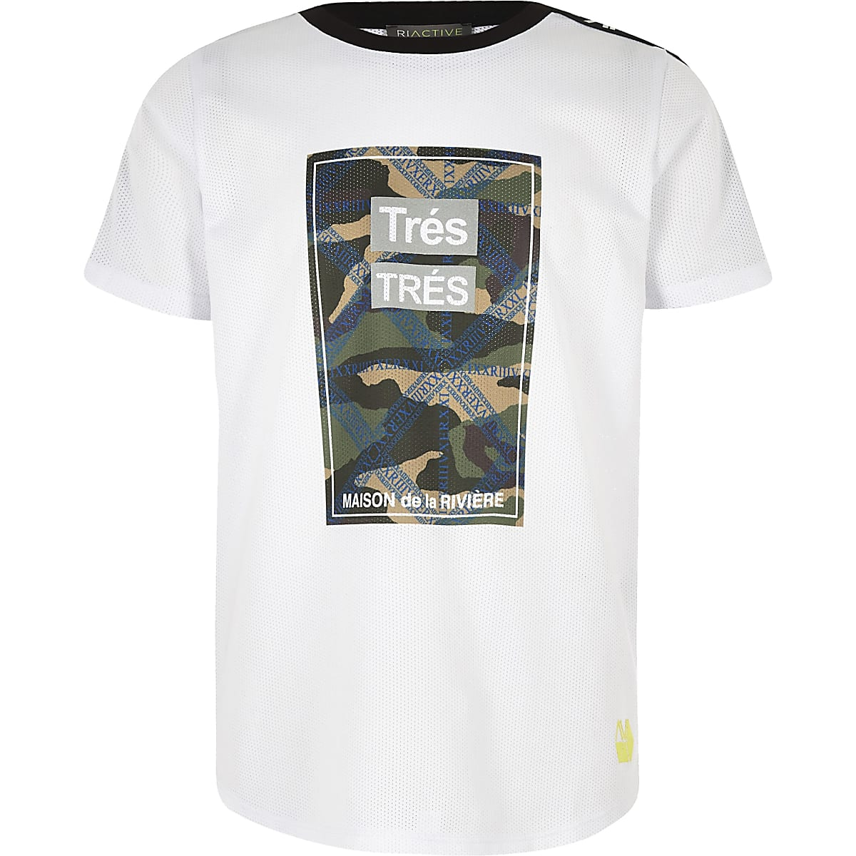 RI Active - Wit T-shirt met 'Tres'-print voor jongens