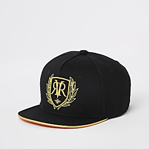 Boys black RI embroidered cap