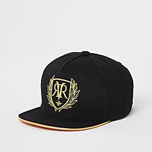 Zwarte geborduurde pet met RI-logo voor jongens