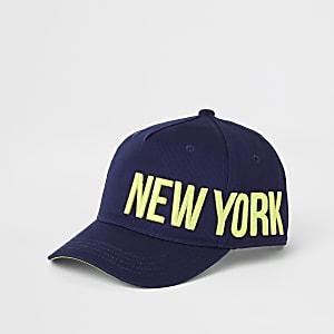"""Marineblaue Kappe """"New York"""""""