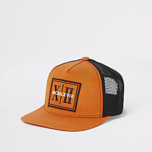 Casquette en maille ajourée orange pour garçon