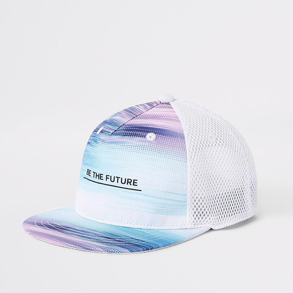 Platte pet met 'be the future'-print voor jongens
