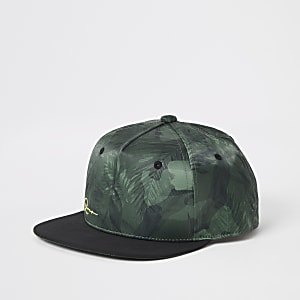 Boys khaki palm print cap