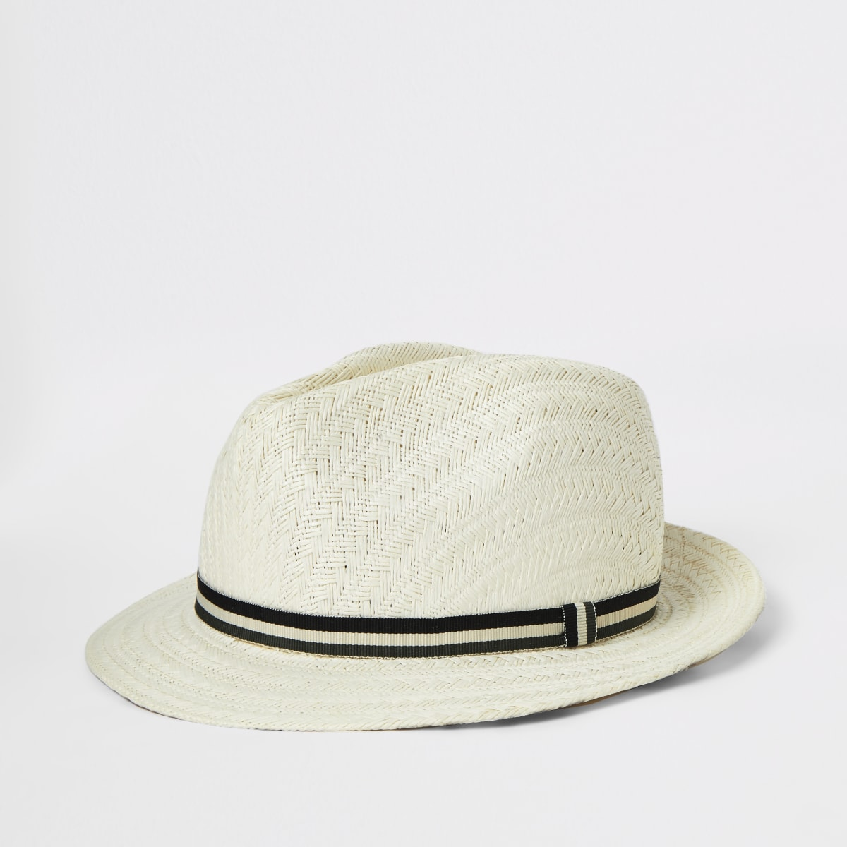 Boys light brown straw hat