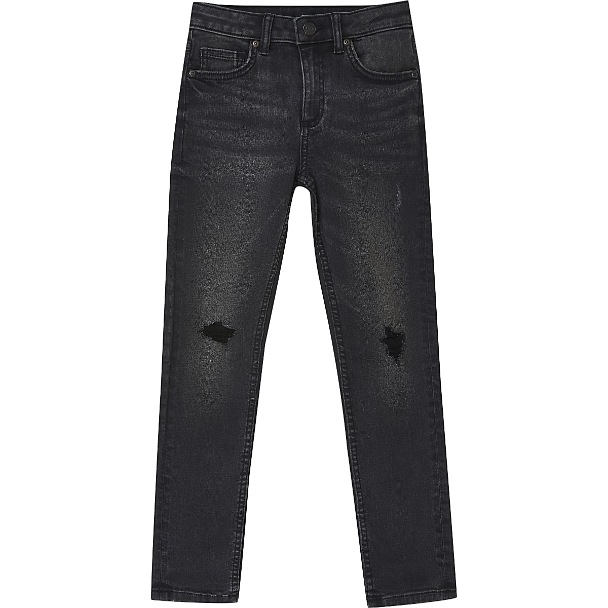 Sid - Zwarte wash ripped skinny jeans voor jongens