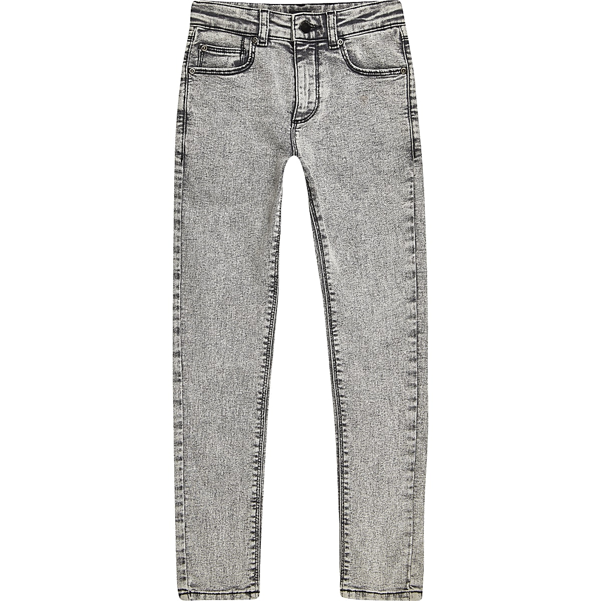 Boys grey Danny acid wash super skinny jeans