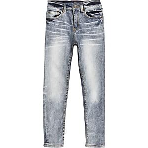 Sid – Jean skinny à délavage bleu moyen pour garçon