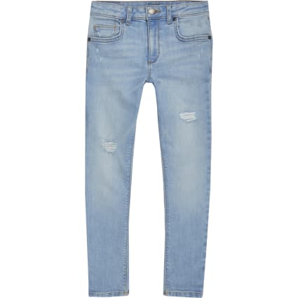 Boys light blue Danny super skinny rip jeans