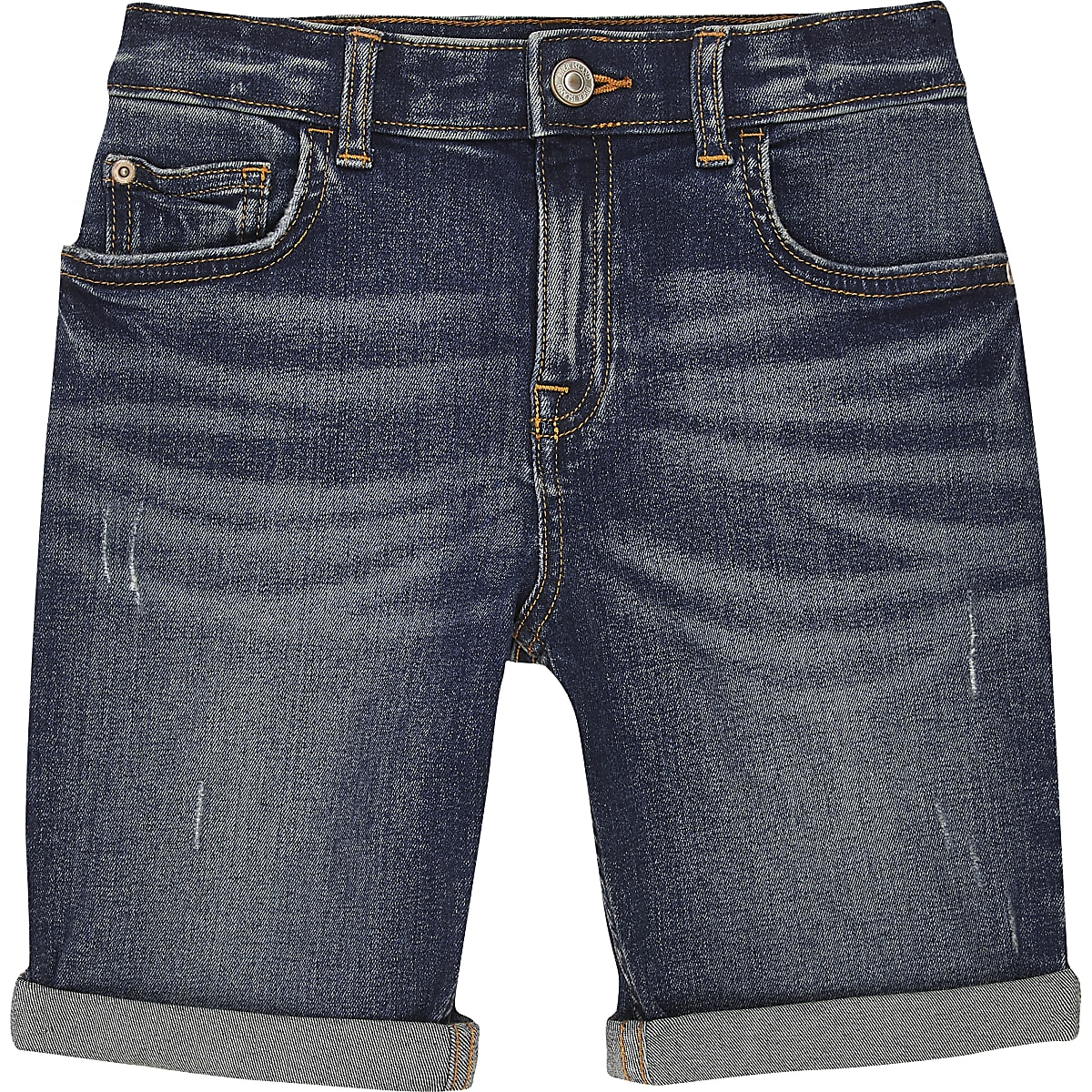Boys mid blue Dylan slim fit shorts