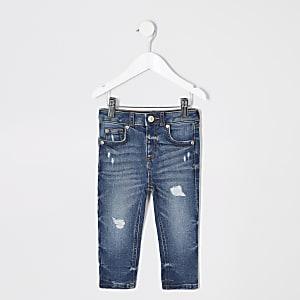 Sid– Jean skinny bleu moyen déchiré mini garçon