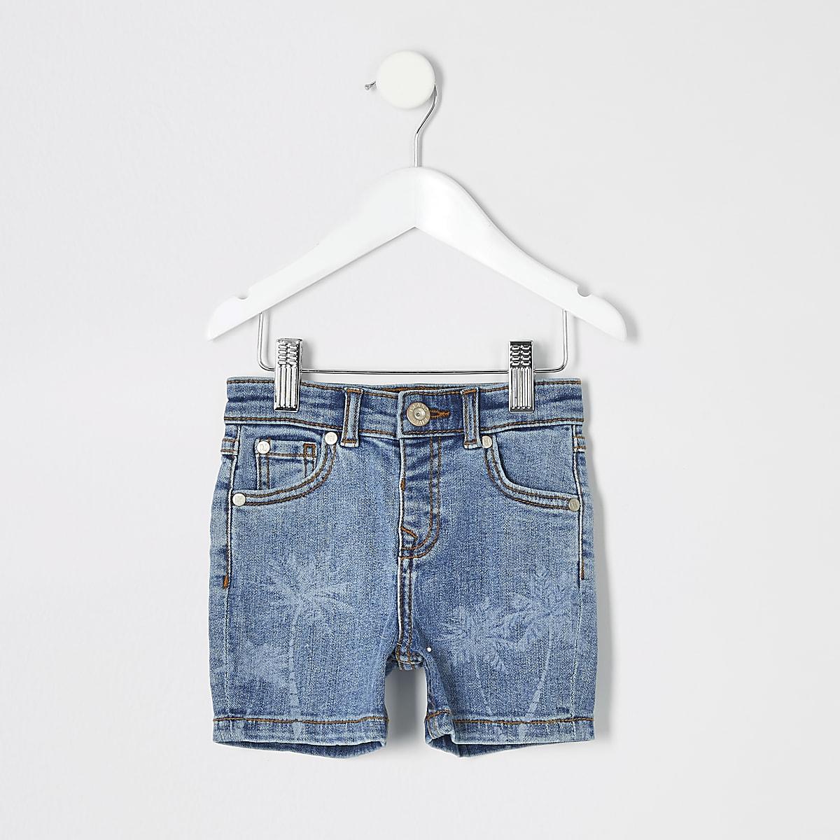 Mini boys blue Dylan slim fit shorts