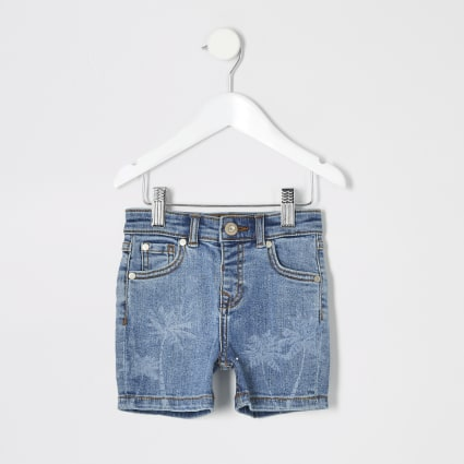 Mini boys blue Dylan slim fit shorts