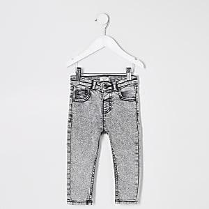 7517ed8799f Mini boys grey Sid skinny acid jeans