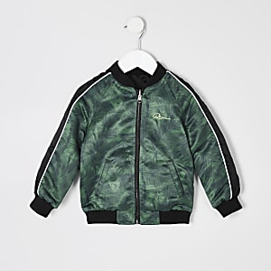 Mini boys khaki reversible RI bomber jacket