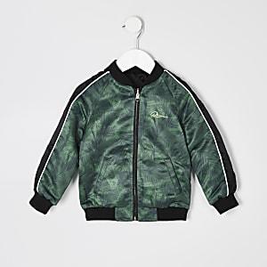 Mini boys khaki reversible RI bomber jacket