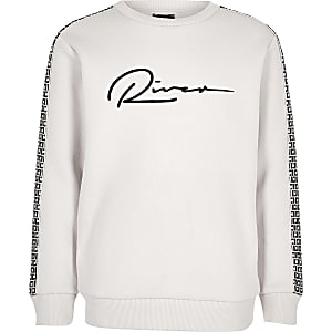 Ecru RI-sweatshirt voor jongens