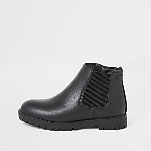 Zwarte stevige Chelsea-laarzen voor jongens
