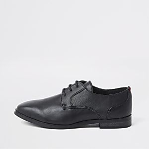 Chaussures Richelieu noires pointues à lacets pour garçon