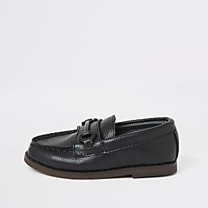 Zwarte loafers voor mini boys