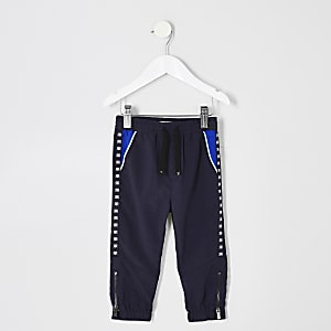 Mini boys navy tape trousers