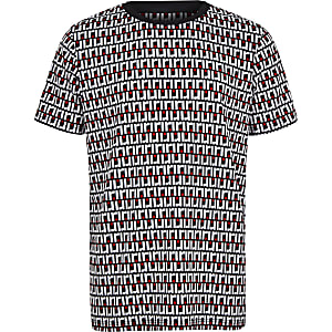 Marinebaluw T-shirt met RI-monogram voor jongens