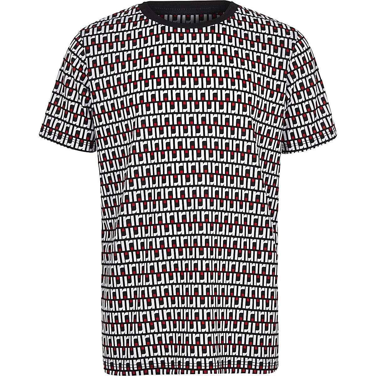 Boys navy RI monogram T-shirt