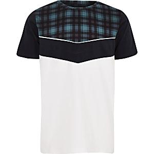 Boys white check chevron T-shirt