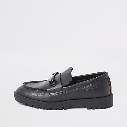 Boys black clumpy loafers
