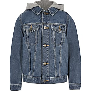 Boys blue hooded denim jacket
