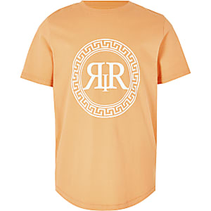 T-Shirt in Orange mit Print