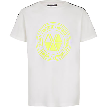 Boys RI Active white tape T-shirt