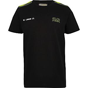 RI Active – T-shirt noir à bande pour garçon