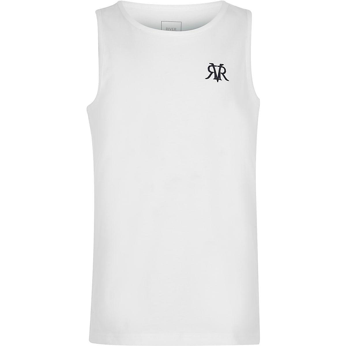 Boys white RI vest