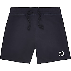 Boys navy RI jersey shorts