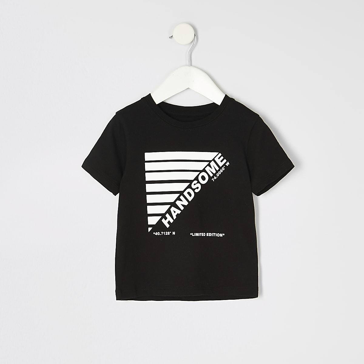 T-shirt à imprimé « New York » noir pour mini garçon