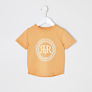 T-Shirt in Orange mit Icon-Print