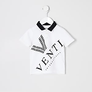Mini boys white 'Venti' polo shirt